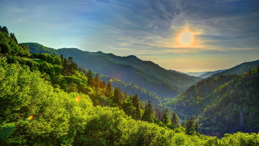 Newfound Gap in the Great Smoky Mountains, Tennessee, USA.