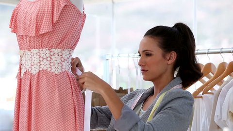 Attractive Fashion Designer Working On Stock Footage Video 100 Royalty Free 4087786 Shutterstock