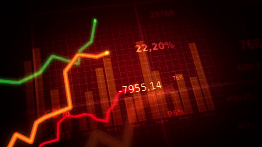 Growing charts. Red-Green. Loopable. Financial figures and diagrams showing increasing profits. Two colors to choose. NEW IMPROVED 4K VERSION IN MY PORTFOLIO.  | Shutterstock HD Video #4090603