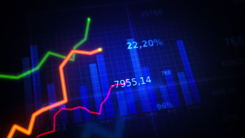 Growing charts. Blue-white. Loopable. Financial figures and diagrams showing increasing profits. Two colors to choose. NEW 4K IMPROVED VERSION IN MY PORTFOLIO.   | Shutterstock HD Video #4090630