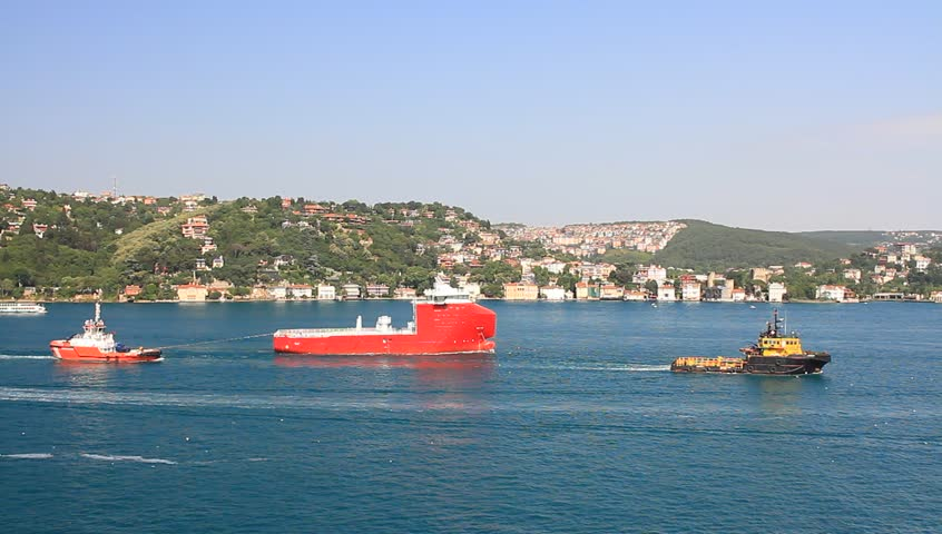 ISTANBUL - JULY 5: Offshore platform supply vessel (serial 780) on July 5, 2012