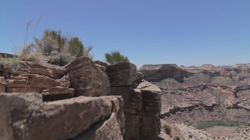An Amazing Jib Shot of the Little Grand Canyon in the Desert of Southern Utah | Shutterstock HD Video #4107535