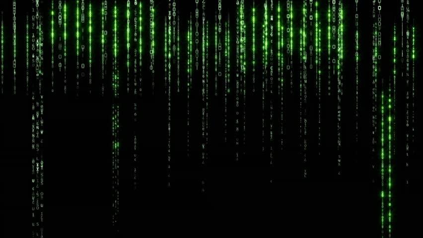 Data Stream Matrix - vertically scrolling numbers
