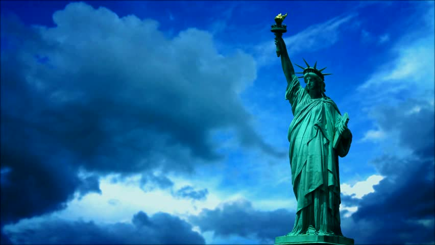 Statue of liberty. Time lapse | Shutterstock HD Video #4130908