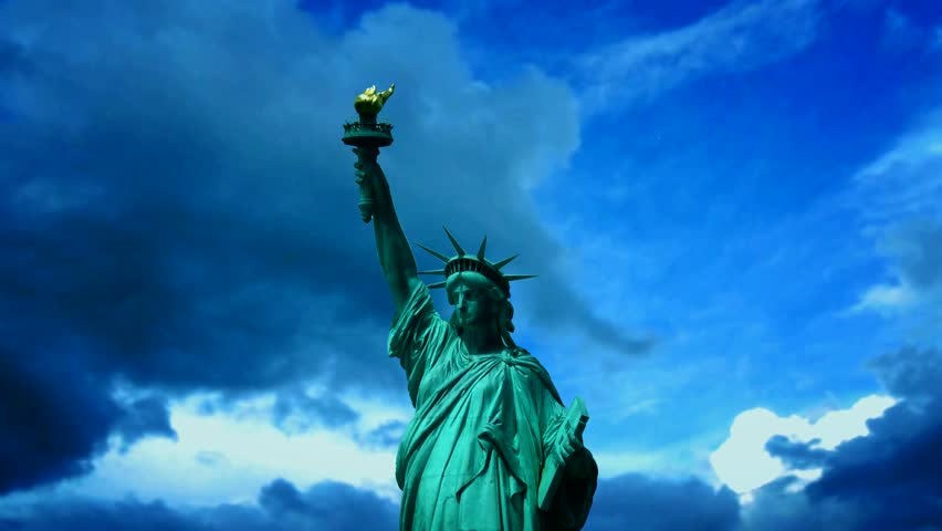 Statue of liberty. Time lapse | Shutterstock HD Video #4130911