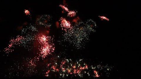 Fireworks Rhein in Flammen (Rheine in flames) on May 4, 2013 in Bonn, Germany.