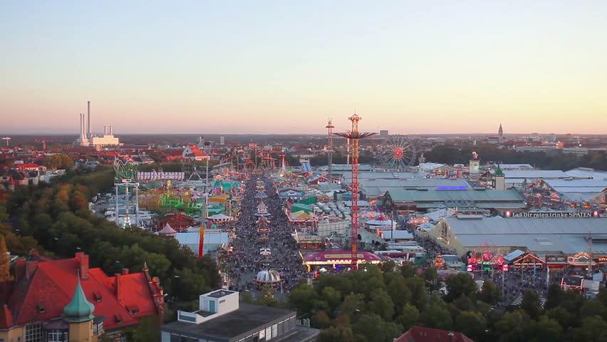 Oktoberfest Munich aerial view Royalty-Free Stock Footage #4145050