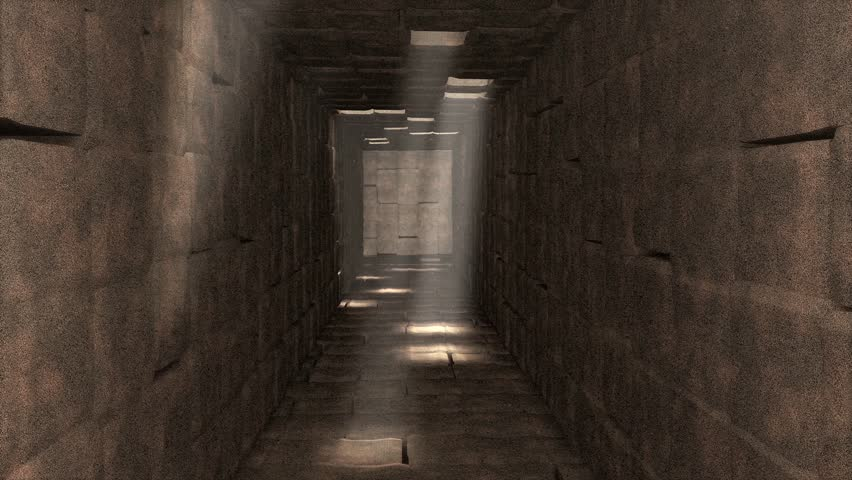 Artist visualize ancient tunnel.