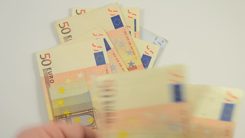 Pay with 50 Euro banknotes | Shutterstock HD Video #4161553