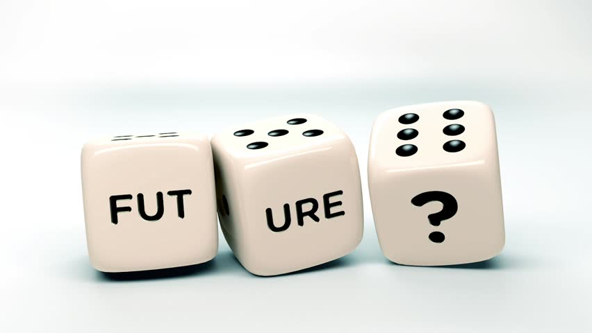 Dice rolls in slow motion with the word future | Shutterstock HD Video #4163665