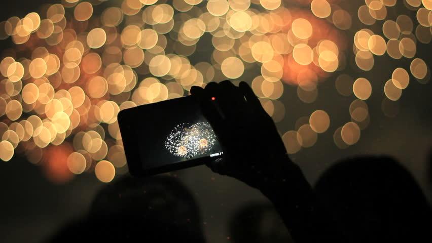 Firework, public, smartphones & tablets. Find similar clips in our portfolio. | Shutterstock HD Video #4168720