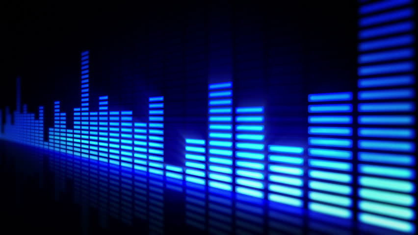 Audio equalizer bars moving. Music control levels. Loopable. Blue. More color options in my portfolio.