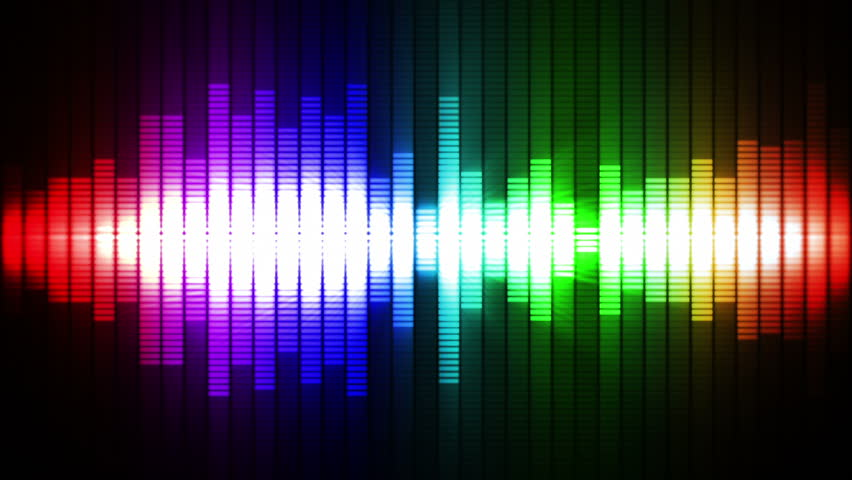 Audio equalizer background. Music control levels. Multicolored and purple. Loopable.