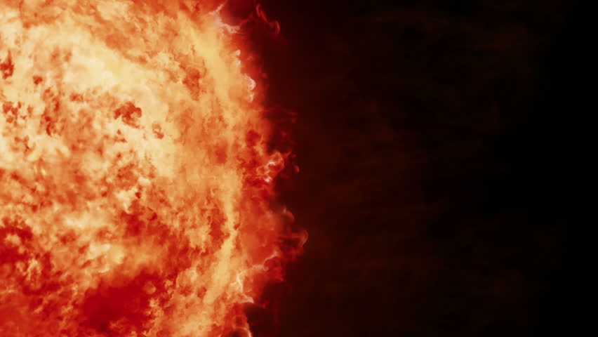 Realistic sun surface with flares. 2 shots in 1 file. Red. More color options in my portfolio.