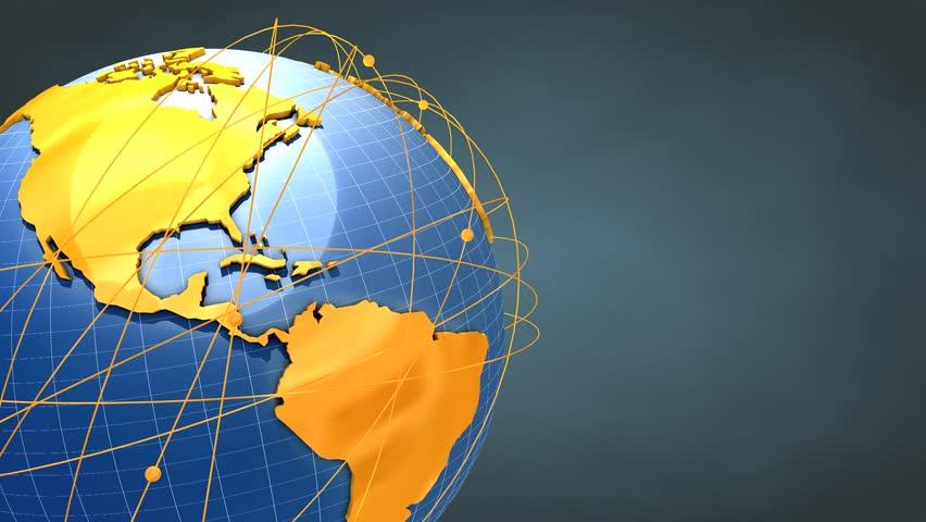 Concept animation, Worldwide network. #4195822