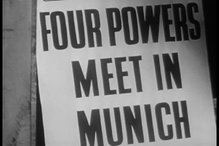 1940s - A narrator discusses the recent history of Czechoslovakia between World Wars 1 and 2 | Shutterstock HD Video #4204720