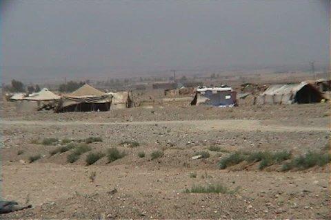 Refugee camp tents in South Waziristan, Pakistan