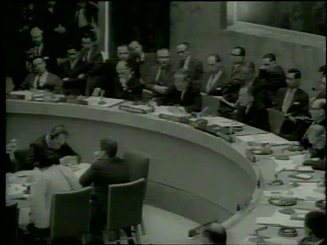 Secretary General of the United Nation Mr U Thant announces about the decision to send UN Forces into Cyprus, New York circa 1964-MGM PICTURES, UNIVERSAL-INTERNATIONAL NEWSREEL, USA, filmed in 1964