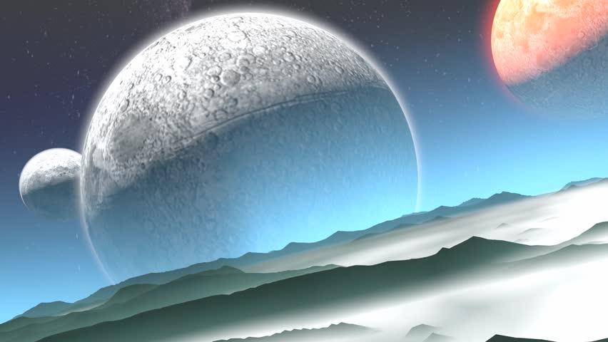 Artist rendering alien planet.