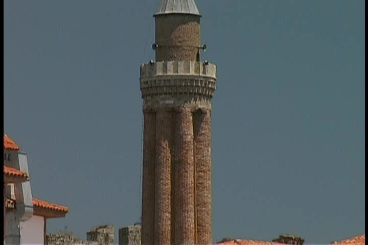 Selcuk Fluted Minaret in Antalya, Turkey