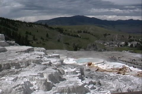 Hot springs Yellowstone WY