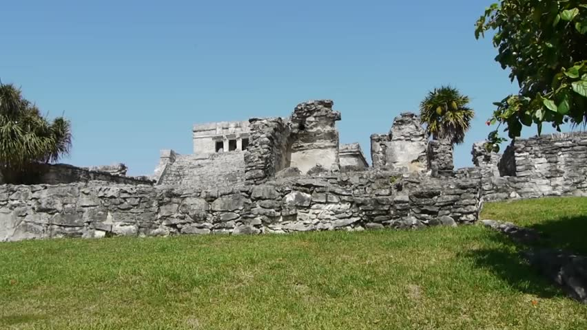 Mayan Ruin of Tulum on Tropical Beach
