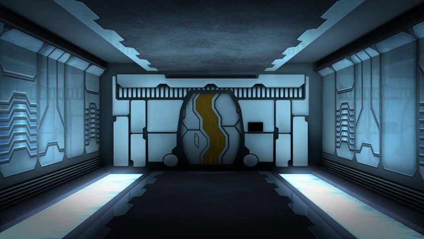 Animation of Futuristic corridor.