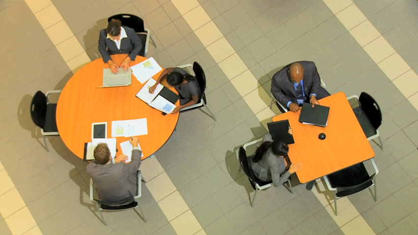 Multi ethnic groups of people meeting clients to discuss various plans for the future | Shutterstock HD Video #4286336