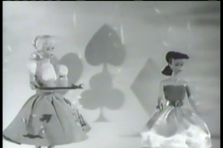 1950s - A commercial for Barbie Dolls from the 1950s