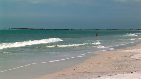 Early morning beach on the island of Caladesi, just off the West coast of Tampa