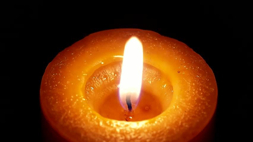Orange candle burning. #4347134