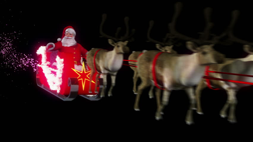Santa and Sleigh Perspective close up. Comes with Alpha.
