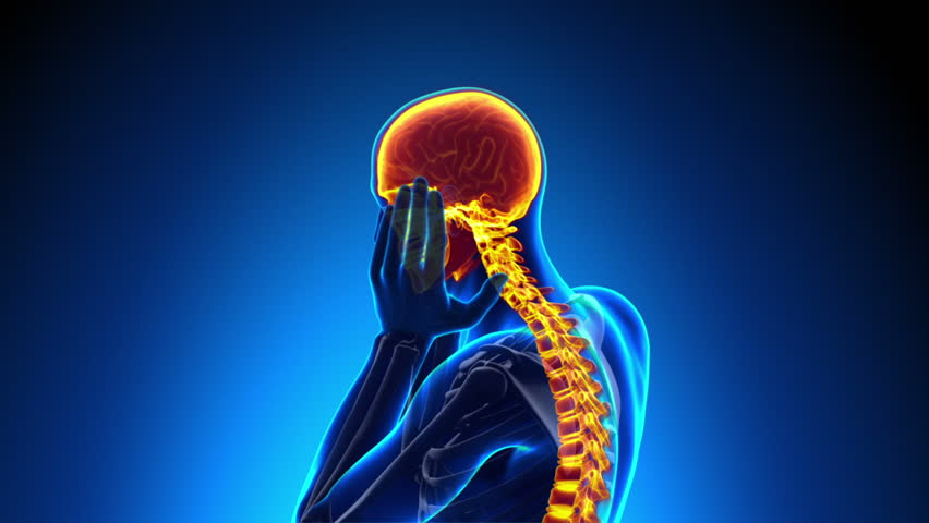 Head Pain Headache - Male Hurt Backbone