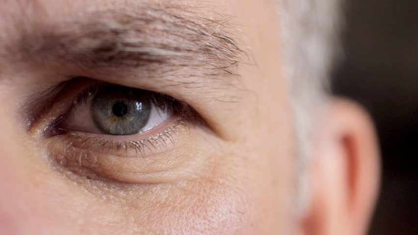 Close up of middle aged man's face | Shutterstock HD Video #4373492