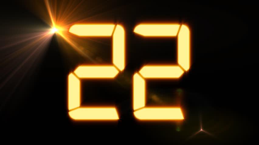 Digital Countdown Clock - 30 second countdown