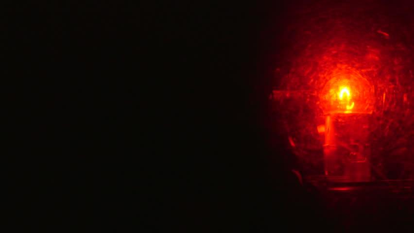 Dolly: Rotating Red Emergency Flashing Light