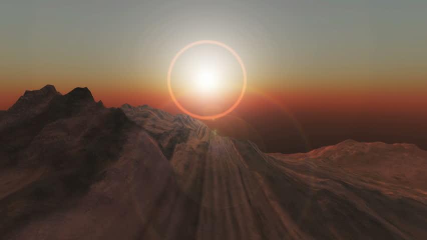 Planet fly in mars | Shutterstock HD Video #4383467