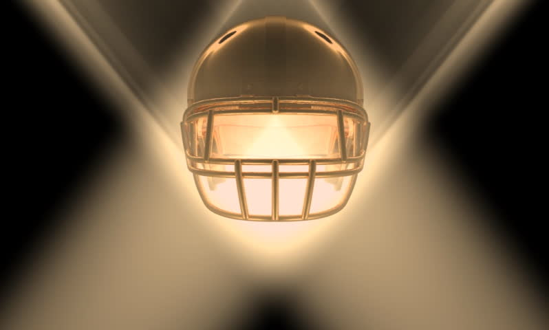 Gold Football Helmet Loop