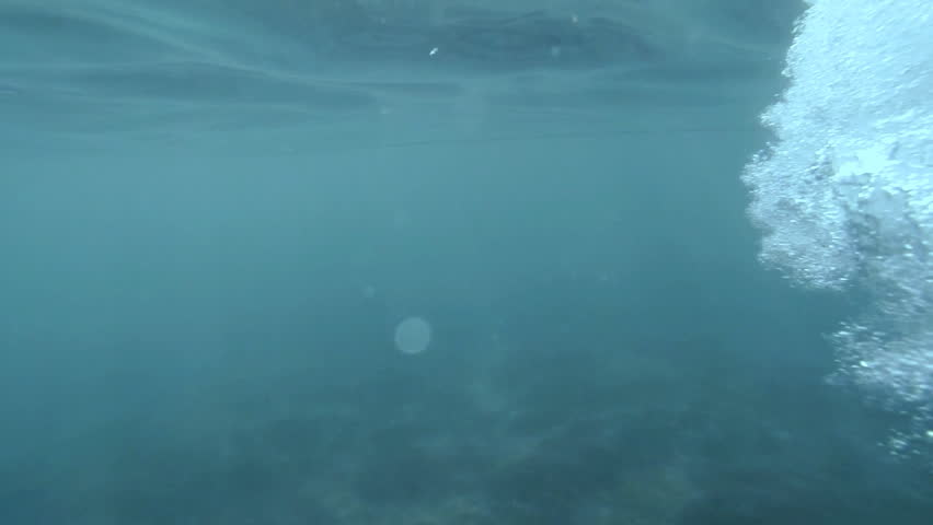 Bubbles under water. Bubbles rising to the surface. Slow motion. #4404503