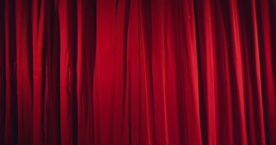 Real theater curtain opening shoot on RED Scarlet and leaving enough time at the beginning. Masking in post for a alpha channel. | Shutterstock HD Video #4442627