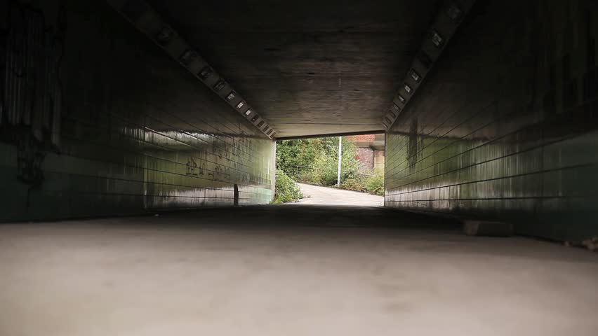 An empty underpass daytime