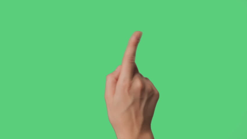 Touch Screen Hand Gestures on green screen for tablet and smart phone | Shutterstock HD Video #4474541