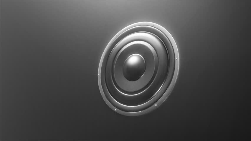Abstract sound speaker loop. HD 1080p animation, perfect as VJ loop, or a music video background.