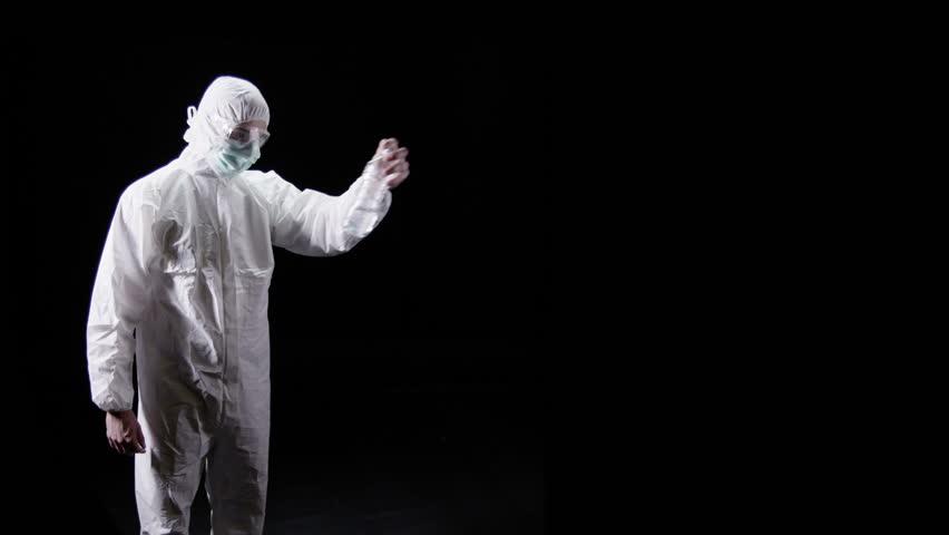Forensic Scientist On Black Background Stockvideoklipp Pa Helt Royaltyfria 4479998 Shutterstock