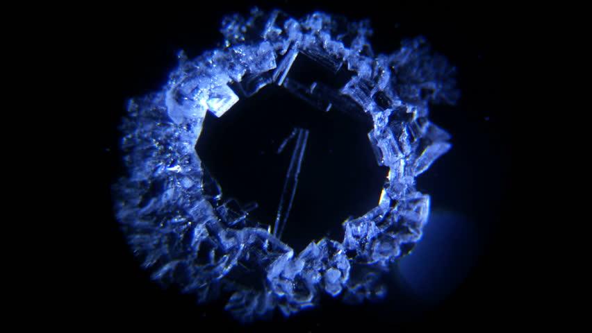 Microscope Time Lapse Salt Crystallization No.024 #4483835