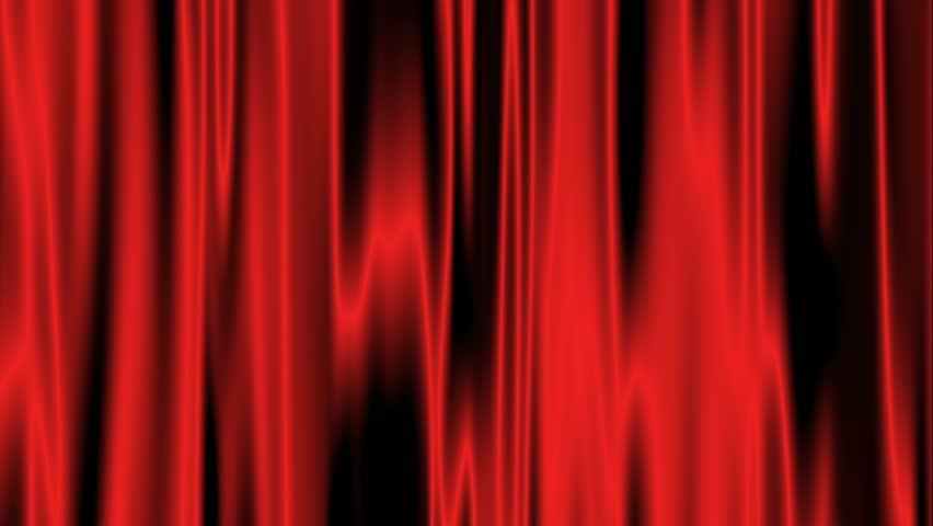 Red satin curtain in HD | Shutterstock HD Video #448471
