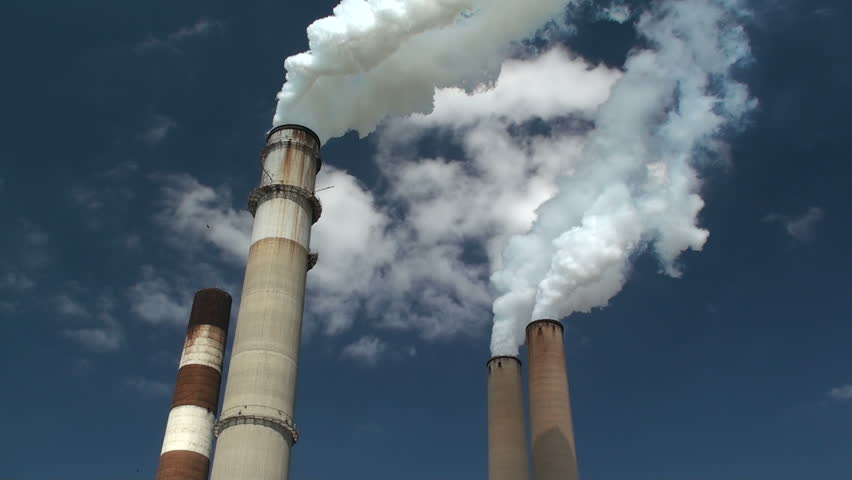 Industrial Smoke Stacks Closeup