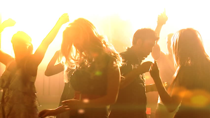 Nightlife party atmosphere - Young people in the club, partying and enjoying the nightlife. | Shutterstock HD Video #4485404