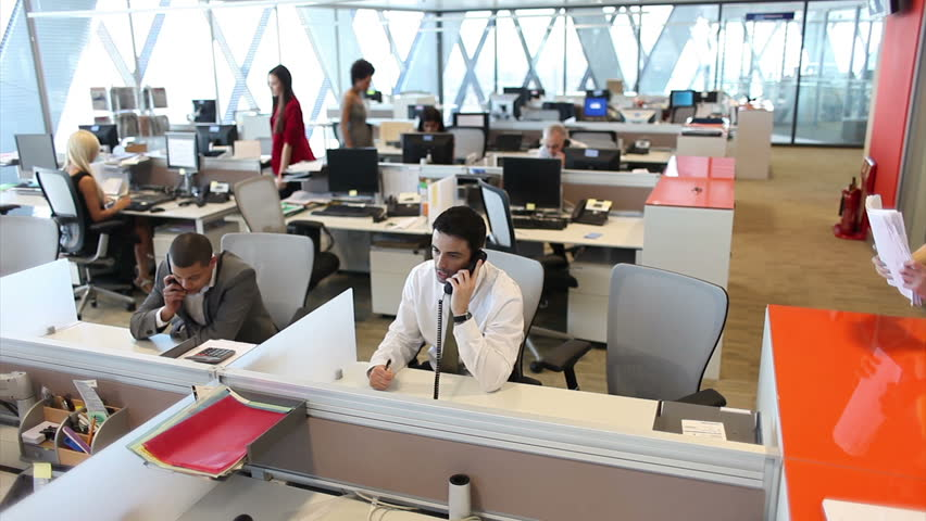 Customer services call centre team on telephones. High quality HD video footage | Shutterstock HD Video #4493273