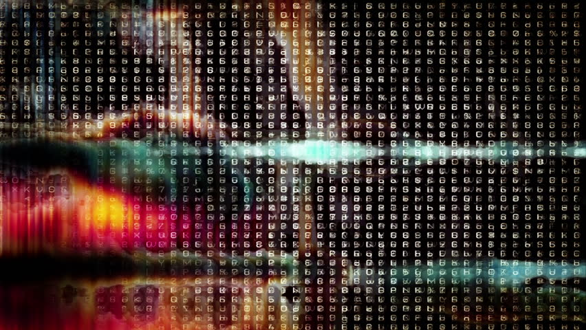 HD - Video Background 2086: Abstract digital data forms pulse and flicker (Loop). | Shutterstock HD Video #4497203